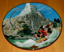 Collector Plate from Disneyland's 40th Anniversary Series.   Issue 7 of 12 titled: Matterhorn Out of Stock
