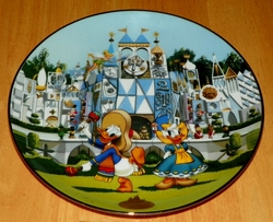 Collector Plate from Disneyland's 40th Anniversary Series.  Issue 3 of 12 titled: It's A Small World SOLD