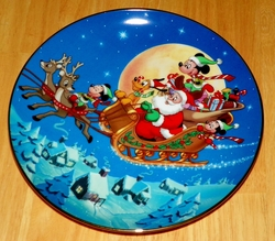 Collector Plate from Mickey's Holiday Magic Series. Issue 1 of 4 titled: Santa's Favorite Helpers Out of Stock
