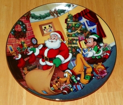 Collector Plate from Mickey's Holiday Magic Series. Issue 4 of 4 titled: Special Delivery Out of Stock