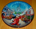 Collector Plate from The Walt Disney Worlds 25th Anniversary Collection Series.  This is issue 1 of 12 titled:  MAIN STREET, U.S.A.