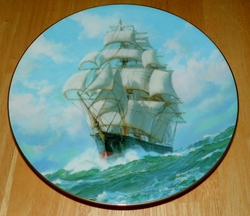 Collector Plate Golden Eagle Conquers Wind The Golden Age of Clipper Ships 1990