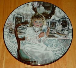 Collector Plate Knowles Rebecca Sixth Issue Heirlooms and Lace Series.