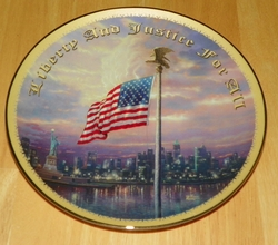 Collector Plate Light of Freedom Thomas Kinkade God Bless America Collection Out of Stock