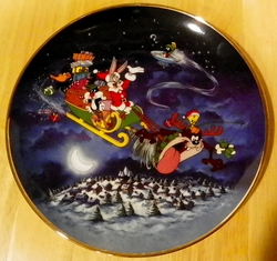 Collector Plate Looney Tunes What's Up Santa Christmas Plate
