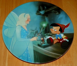 Collector Plate Pinocchio & Blue Fairy the 2nd plate in the Pinocchio Series of Six Plates from Edwin M. Knowles