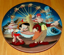 Collector Plate Pleasure Island the 5th plate in the Pinocchio Series of Six Plates from Edwin M. Knowles Out of Stock