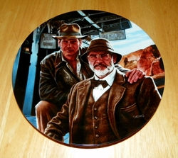 Collector Plate The Adventures of Indiana Jones and the Last Crusade Series Titled Indiana Jones & His Dad