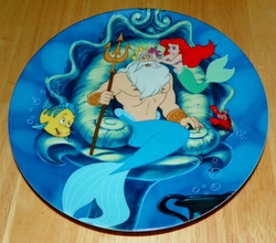 Disney Collector Plate The Little Mermaid Collection Series. Plate 3 of 8 titled: Daddy's Girl