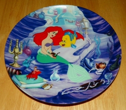 Collector Plate The Little Mermaid Collection Series. Plate 5 of 8 titled:  Ariels Treasured Collection Out of Stock