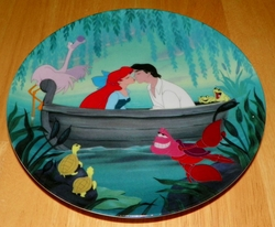Collector Plate The Little Mermaid Collection Series. Plate 6 of 8 titled:  Kiss the Girl  Out of Stock