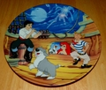 Collector Plate The Little Mermaid Collection Series. Plate 7 of 8 titled:  Fireworks at First Sight