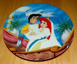 Collector Plate The Little Mermaid Collection Series. Plate 8 of 8 titled:  Forever Love Out of Stock