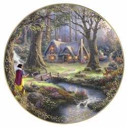 Collector Plate Thomas Kinkade and Disney Snow White SOLD