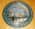 Collector Plate Thomas Kinkade A Holiday Gathering 25th Anniv Master Pewter