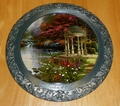 Collector Plate Thomas Kinkade Garden of Prayer 25th Annv Master Pewter