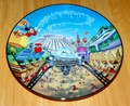 Collector Plate Walt Disney World 25th Anniversary Tomorrowland # 4 OF 12 COA