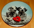 Collector Plate A Spot in My Heart Comical Dalmatians Coll Hamilton 1995