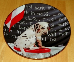 Collector Plate I Will Not Bark in Class Comical Dalmatians Coll Hamilton 1996