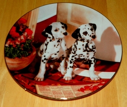 Collector Plate Spotted in the Headlines Comical Dalmatians Coll Hamilton 1995