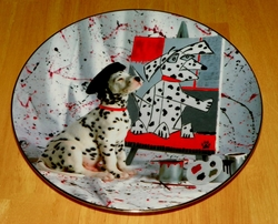 Collector Plate The Master Comical Dalmatians Coll Hamilton 1996