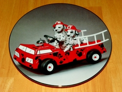 Collector Plate To The Rescue Comical Dalmatians Coll Hamilton 1996