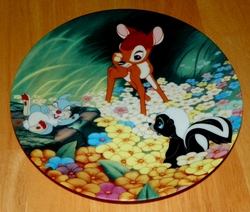 Disney Collector Plate Bambi's New Friends From Bambi Series Out of Stock