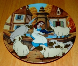 Disney Collector Plate Beauty and the Beast Belle's Favorite Story