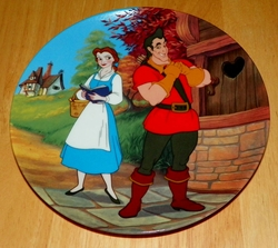 Disney Collector Plate Beauty and the Beast Mismatch Out of Stock