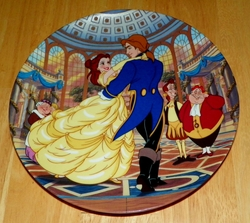 Disney Collector Plate Beauty and the Beast Spell is Broken Out of Stock