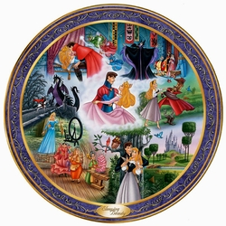 Disney Collector Plate Ever After Series Sleeping Beauty Bradford SOLD