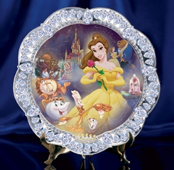 Disney Collector Plate Jewels of Disney Series - 4th Issue Beauty and the Beast SOLD