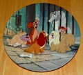 Disney Collector Plate Lady and the Tramp Dog Pound Blues