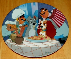 Disney Collector Plate Lady and the Tramp First Date SOLD
