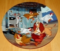 Disney Collector Plate Lady and the Tramp Ruff House
