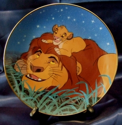 Disney Collector Plate Lion King We'll Always Be Friends 1995 5th Issue