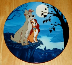 Disney Collector Plate Moonlight Romance Lady and the Tramp Series 1993 Out of Stock