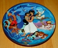 Disney Musical Memories Collector Plate 1995 Aladdin's Magical New World