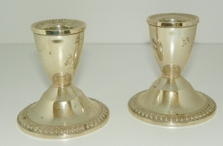 Duchin Creations Sterling Silver Weighted Holloware Candle Holders Sticks 1950's