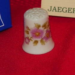 Flower Porcelain West Germany Thimble Collectors Club