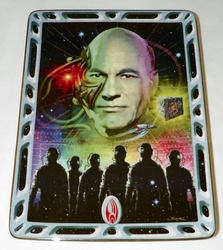 Franklin Mint Star Trek Villians of the Galaxy Locutus of Borg Plate Stand & COA