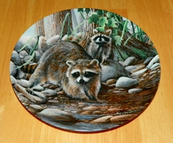 1987 The Raccoon Friends of the Forest Collection 2nd issue Knowles Out of Stock