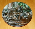 1987 The Raccoon Friends of the Forest Collection 2nd issue Knowles