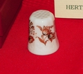 Gold Flowers Hertel Porzellan Porcelain West Germany Thimble Collectors Club