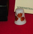 Golden Leaves Porcelain West Germany Thimble Collectors Club