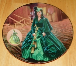 Gone With The Wind 1993 Collector Plate The Green Drapery Dress Costuming of a Legend Box & COA Out of Stock