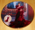 Gone With The Wind 1993 Collector Plate The Red Dress Plate 1 Series Costuming of a Legend Box & COA
