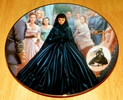 Gone With The Wind 1993 Collector Plate Widow's Weeds Costuming of a Legend Out of Stock