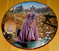 Gone With The Wind 1994 Collector Plate Orchid Percale Dress Costuming of a Legend Out of Stock