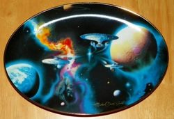 Hamilton Star Trek Collector Plate To Boldly Go